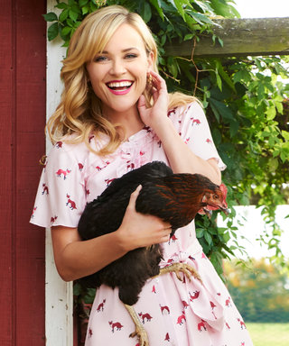 Watch Reese Witherspoon Cuddle a Chicken While Modeling Draper James's New Collection