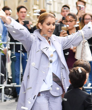 Celine Dion and Her Sons Were Met with a Confetti Party on the Streets of Paris