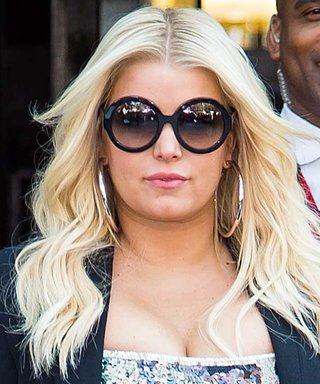 Jessica Simpson Sparkles in a Sequined Minidress