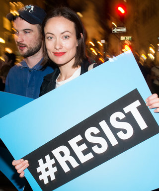 Olivia Wilde, Mark Ruffalo, and Michael Moore Take to the Streets to Protest Trump