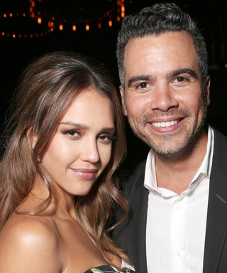 Jessica Alba Slays in Maternity-Chic Denim Jumpsuit