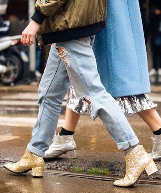 Shop This Fall's Major Shoe Trend: Glitter Boots