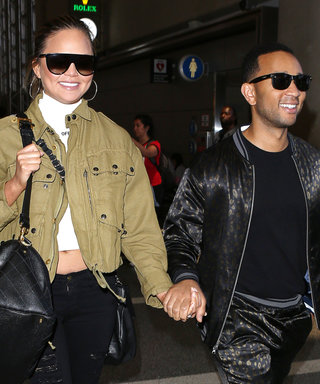 Chrissy Teigen and John Legend Look Stylish at LAX