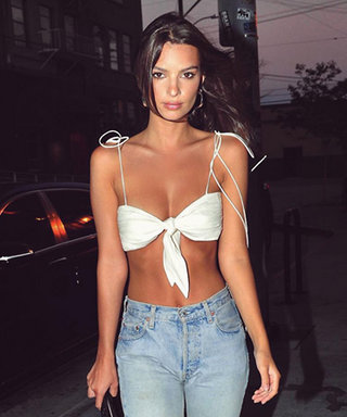 Emily Ratajkowski Works a White String Bikini Top as a Shirt