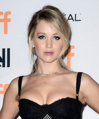 Jennifer Lawrence Goes Goth in Black Bustier-Style Gown