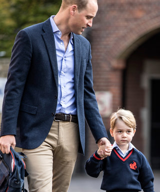 Prince George Made the Cutest Pose for His First Day of School Photo