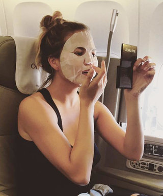 Here's What Actually Happens When You Wear a Sheet Mask on a Plane