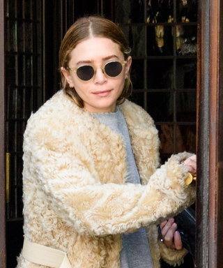 Mary-Kate Olsen Wore Sweats, a Furry Coat, and Sneakers All at Once