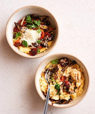 Egg Shop's Mushroom and Pecorino Scrambler
