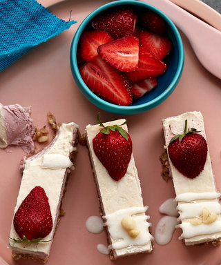 These Healthy Strawberry Blonde Bars Are Too Good To Be Vegan and Gluten-Free