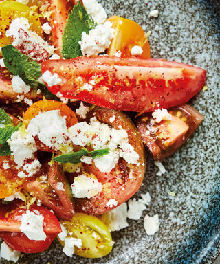 Heritage Tomato Salad with Sumac, Lemon and Feta