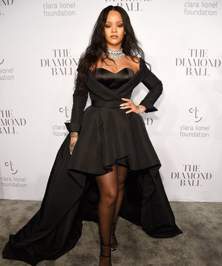 Rihanna Stuns in Dramatic Black Gown at Her 3rd Annual Diamond Ball