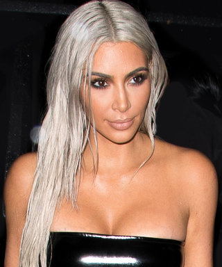 Kim Kardashian West Ditches Her Bra in Skintight Bodysuit