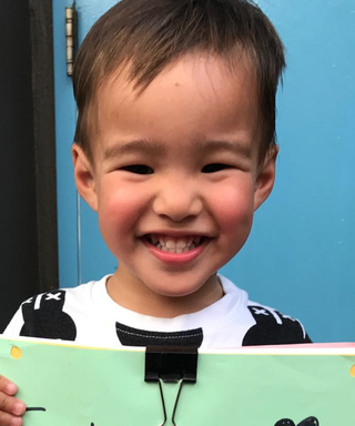 Here's Lucy Liu's Son on His First Day of School—EVER