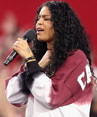 Jordin Sparks Makes Her Own Statement While Singing the National Anthem Before Monday's NFL Game
