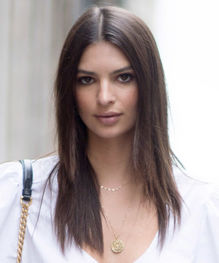 EmRata Goes Bra-Free Under a Cropped Open-Front Robe