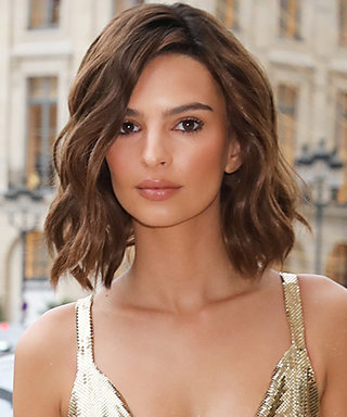 "Emily Ratajkowski Redefines ""Golden Girl"" in This Sexy Cocktail Dress"