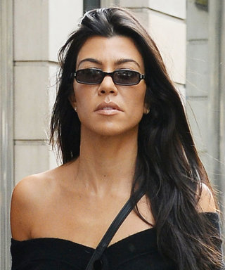 Kourtney Kardashian and Younes Bendjima Coordinate in Pinstripe Outfits in Paris