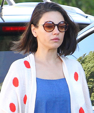 Mila Kunis Pairs Her New Lob with the Coolest Slouchy Jumpsuit