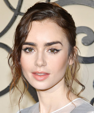 Daily Beauty Buzz: Lily Collins's Soft-Focus Cat Eye