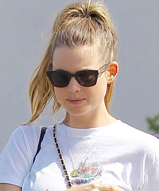Behati Prinsloo Flashes Her Bare Baby Bump in Low-Rise Sweats