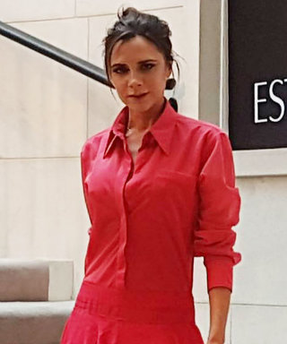 Victoria BeckhamCopped the Dancing Lady Emoji's Look in Her Own Collection