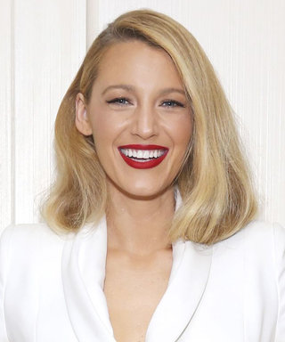 Blake Lively Looks Like an Old-Hollywood Bombshell in a High-Slit White Skirt Suit