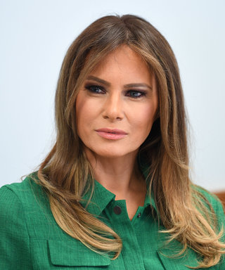 Melania Trump Pairs Her Green Shirtdress with Multicolored Louboutins