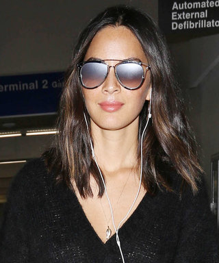 Olivia Munn Turned an Oversize Sweater into the Cutest Dress