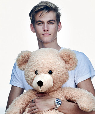 Presley Gerber Cuddled a Teddy Bear to Unveil Omega's Newest Watch