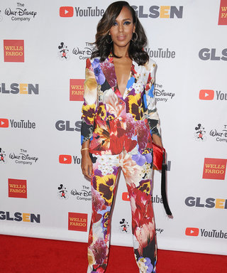 Kerry Washington Stuns in Fall Florals at GLSEN Awards