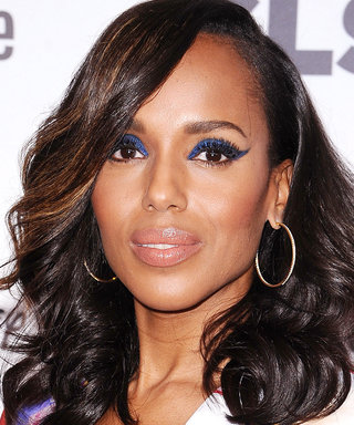 Daily Beauty Buzz: Kerry Washington's Glitter-Coated Cat Eye