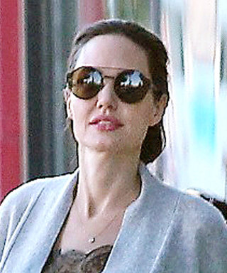 Let Angelina Jolie Teach You How to Layer for Unseasonably Warm Temperatures