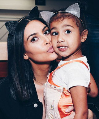Kim Kardashian and North Are Denim Twins in the Latest KarJenner Christmas Card Installment