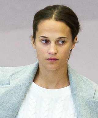 Alicia Vikander's Wedding Ring Makes a Stylish Arrival at the Airport