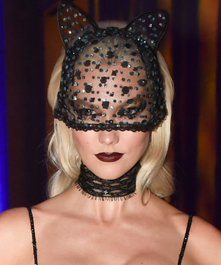 Karlie Kloss's Sexy Cat Halloween Costume Is 99% Lingerie