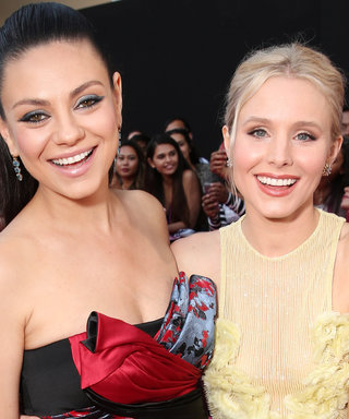 """Kristen Bell and Mila Kunis Twin with Matching """"Friendship Haircuts"""""""