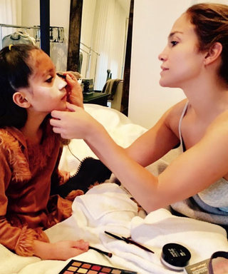 Jennifer Lopez Did Her Daughter's Halloween Makeup Herself—and the Result Is Impressive
