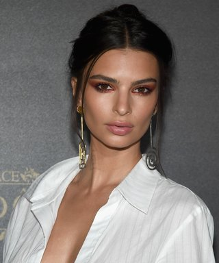 Emily Ratajkowski Is the Ultimate Risk-Taker, Goes Braless in a Plunging White Shirtdress