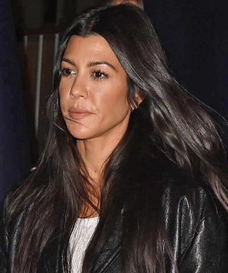 Kourtney Kardashian's Latest Church Look: Distressed Jeans and a Knee-Length Leather Coat