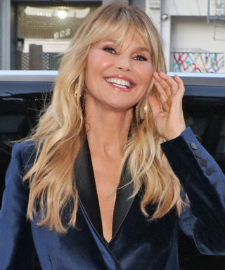 Christie Brinkley Looks Unbelievably Good in a Plunging Velvet Suit