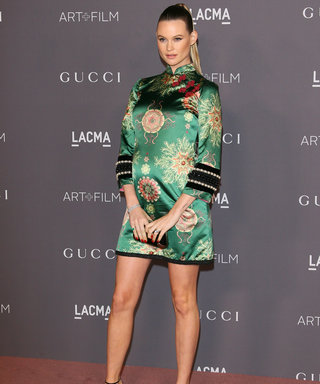 Behati Prinsloo Shows Off Her Baby Bump in Green Mini at LACMA Art + Film Gala