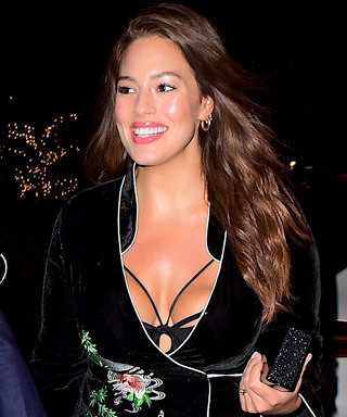 Ashley Graham Shows Major Skin in a Low-Cut Wrap Dress on Date Night
