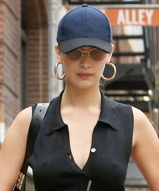 Bella Hadid Goes Braless in a Crop Top During a Chilly Stroll in N.Y.C.