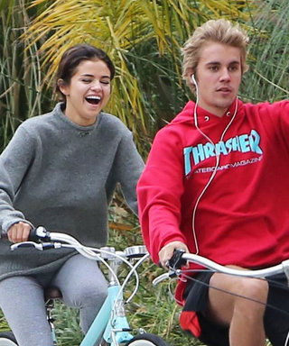 Selena Gomez and Her Adorable Puppy Cheer on Justin Bieber at His Hockey Game