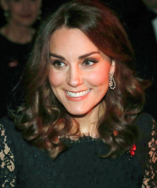 Pregnant Kate Middleton Glows in a Floor-Sweeping Lace Gown at a Palace Gala