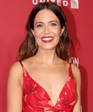Here's Mandy Moore's Red Carpet Version of the Red Dress Emoji