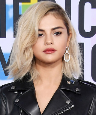 Selena Gomez Hits the AMAs in the Shortest Leather Minidress You Can Imagine