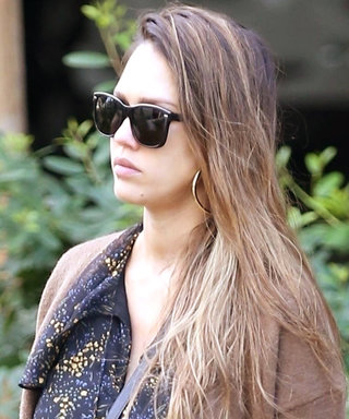 Jessica Alba's Baby Bump Looks so Cute in This Sheer Dress