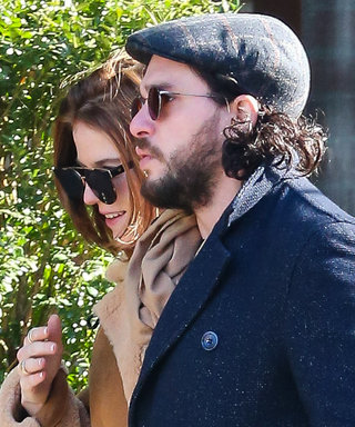Kit Harington and Fiancée Rose Leslie Color Coordinate for a Romantic Stroll in N.Y.C.